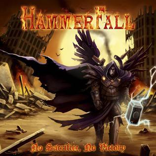 hammerfall no sacrifice no victory cd album cover art