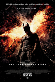 The official poster for The Dark Knight Rises
