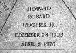 Howard Hughes's gravestone
