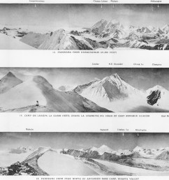 mount everest panoramas taken on the 1921 expedition [ 2500 x 1197 Pixel ]