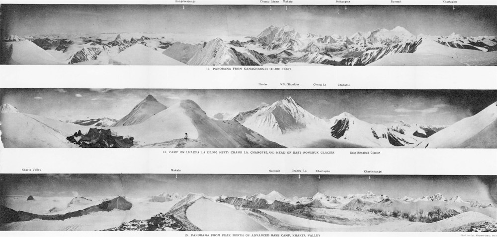 medium resolution of mount everest panoramas taken on the 1921 expedition