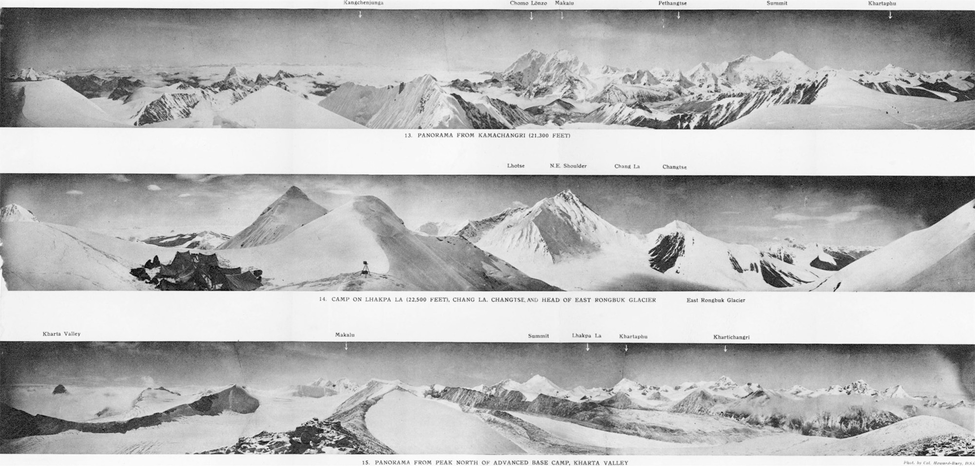 hight resolution of mount everest panoramas taken on the 1921 expedition