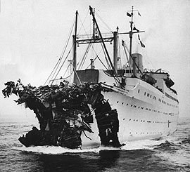 July 26, 1956: After colliding with the Andrea...