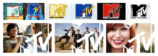 MTV's original 1981 and revised 2009 logos bot...