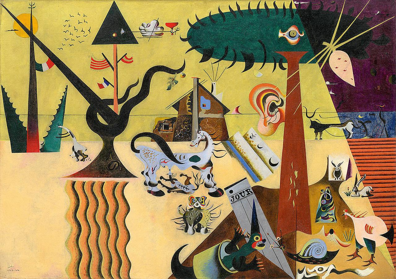Joan Miró - The Tilled Field