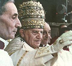 Pope John XXIII's coronation on 4 November 195...