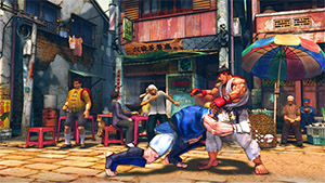 Abel attacking Ryu in Street Fighter IV.