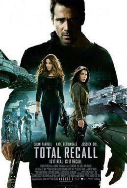 Total recall movie poster 2012
