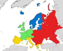 Eastern Europe Region Map