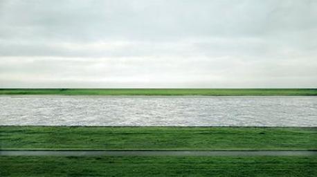 Rhein II by Andreas Gursky, 1999