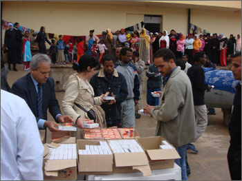 IOPCR at an immigrants care center in Libya