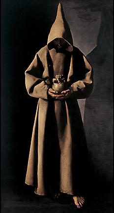 Saint Francis of assisi in his tomb
