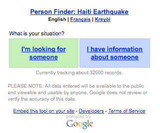 google person finder wikipedia