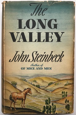One of several covers for the book The Long Valley, which contains the story The Chrysanthemums. Thanks to Wikipedia for the use of this image.