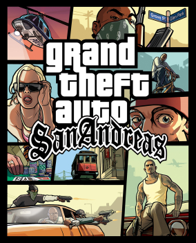 The 'San Andreas' text below Grand Theft Auto ...