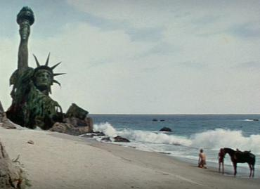 Important scenes in the Planet of the Apes ser...