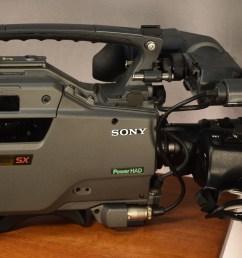 sony betacam sx side view [ 2733 x 1521 Pixel ]