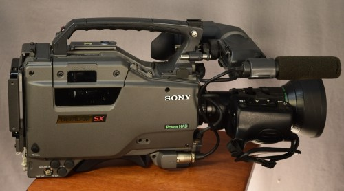 small resolution of sony betacam sx side view