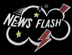 "The ""NEWS FLASH"" title card."