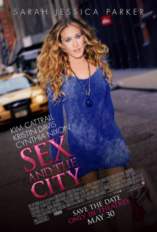 Teaser poster for 2008 film, Sex and the City:...