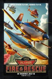 Poster for 2014 animated comedy sequel Planes: Fire and Rescue