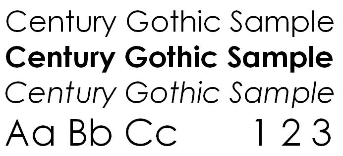 CENTURY GOTHIC SCARICARE