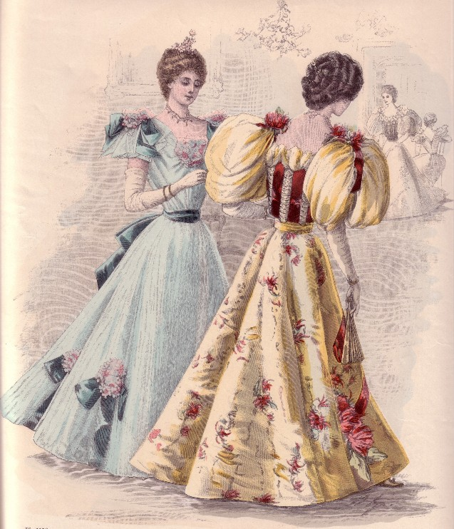 Istorija odevnih predmeta - Page 7 Evening_gowns_1892-3