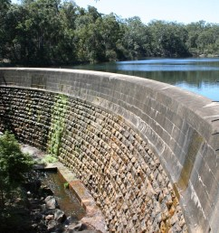 masonry arch wall parramatta new south wales the first engineered dam built in australia [ 1280 x 901 Pixel ]