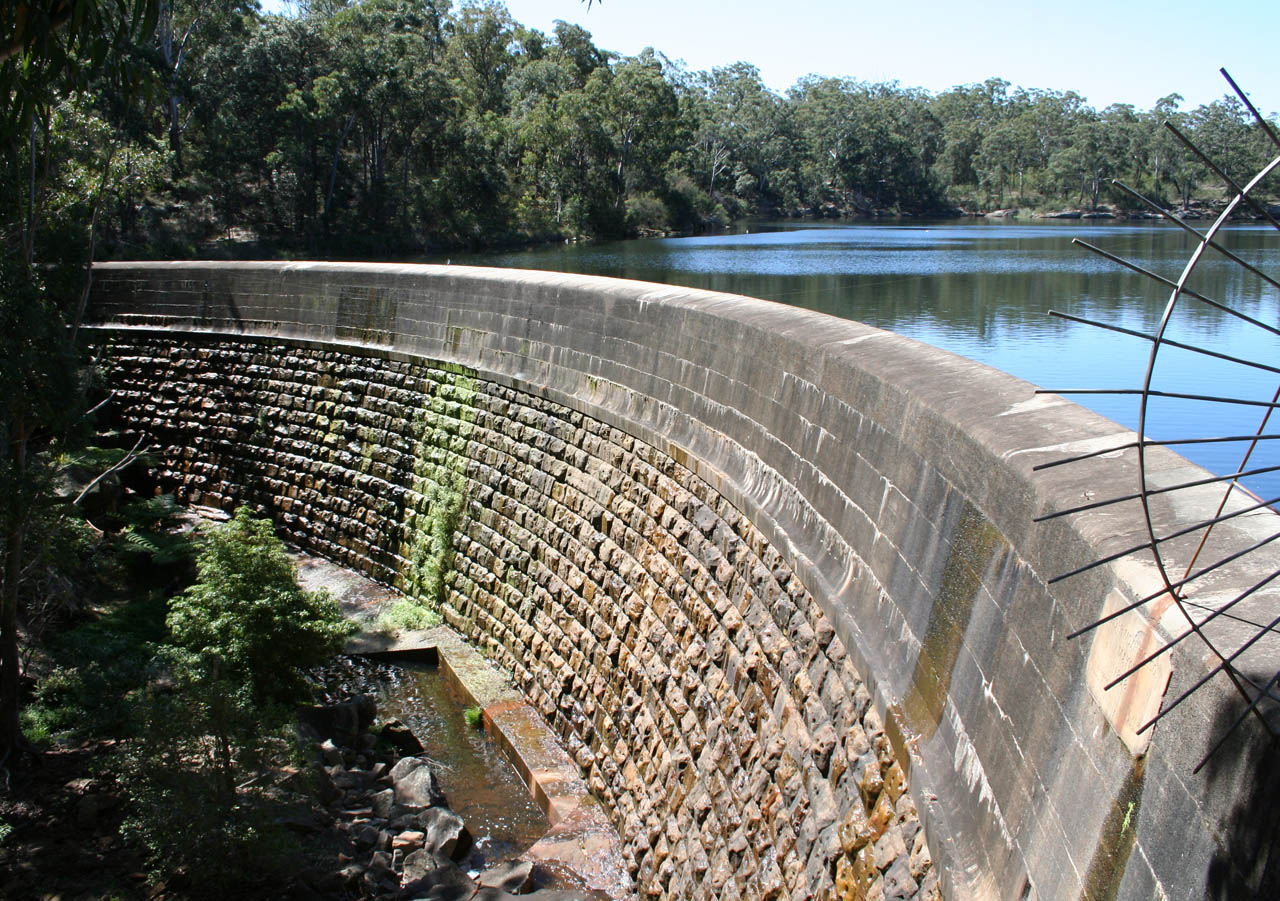 hight resolution of masonry arch wall parramatta new south wales the first engineered dam built in australia