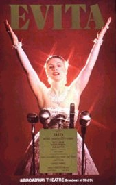 Poster for the Broadway production of Evita wi...
