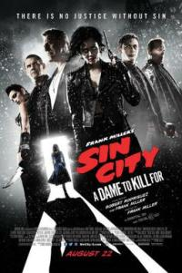 Poster for 2014 neo-noir sequel Sin City: A Dame to Kill For