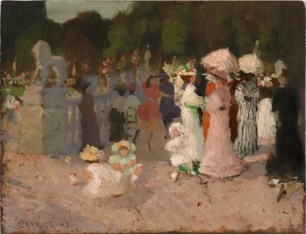 File Ethel Carrick - Paris Park Scene Google Art Wikipedia