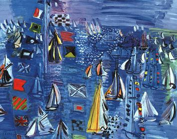 Raoul Dufy, Regatta at Cowes, (1934), Washingt...