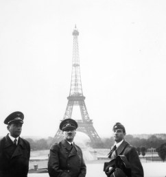 hitler visits paris with architect albert speer left and sculptor arno breker right 23 june 1940 [ 2019 x 2930 Pixel ]
