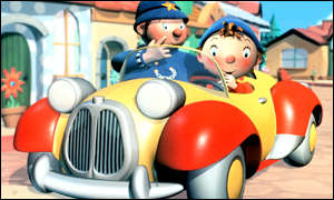 Noddy and Mr Plod, as depicted in the 2000s TV...