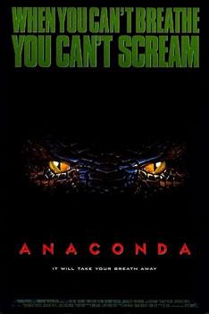 Film poster for Anaconda - Copyright 1997, Son...