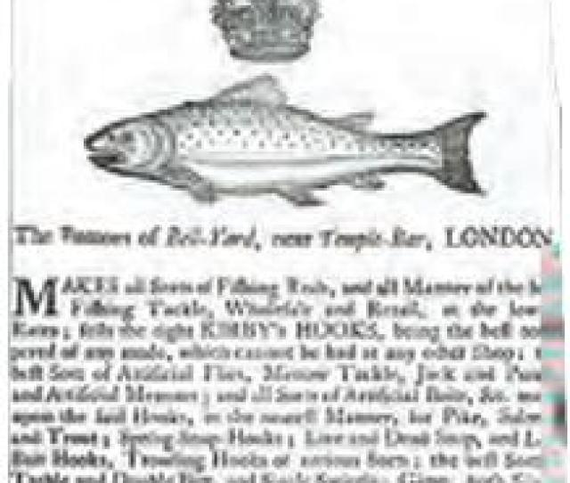 Trading Card Of The Ustonson Company An Early Firm Specializing In Fishing Equipment And Holder Of A Royal Warrant From The S