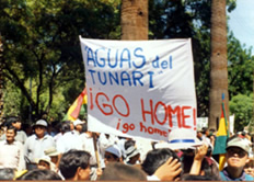 Demonstrators demand removal of consortium and...