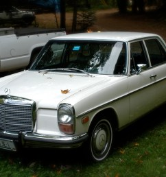 mercedes benz w114 wikipedia1973 mercedes benz w115 220d with us spec headlights and corresponding side markers [ 3008 x 2000 Pixel ]