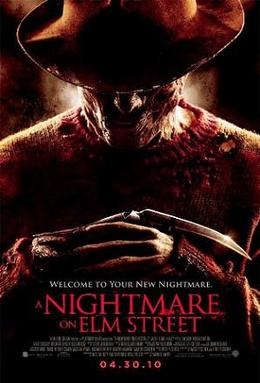 Theatrical release poster for A Nightmare on Elm Street (2010)