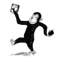 A graphical spoof of the Curious George childr...