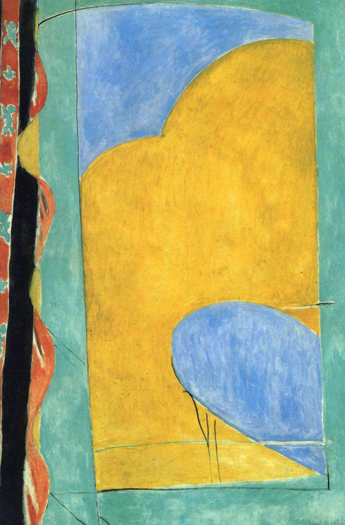 Henri Matisse, The Yellow Curtain, 1915. With ...
