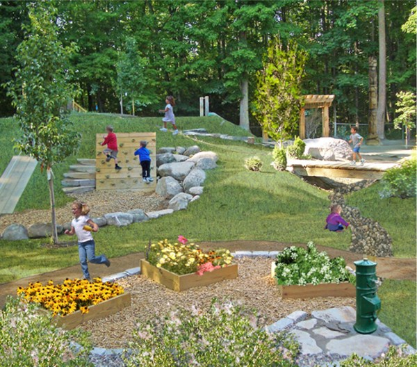 Natural Backyard Playground Ideas