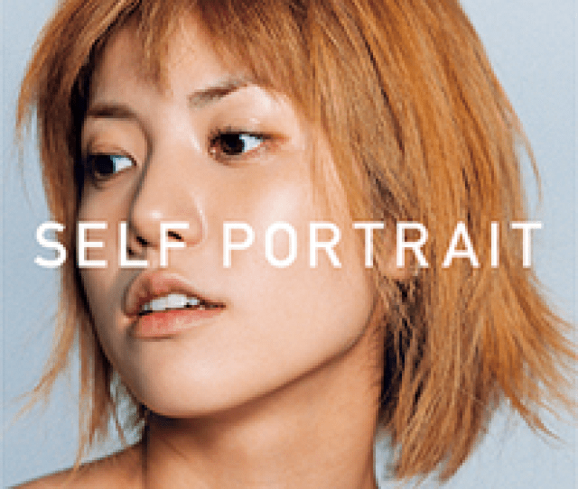 A Tightly Framed Photograph Of Hitomi With The Title Self Portrait Superimposed In A