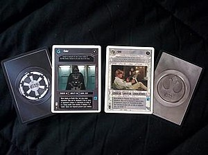 Photo of cards from Star Wars Customizable Car...