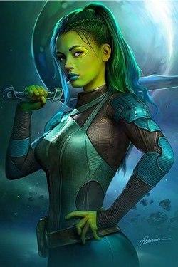 Image of: Star Lord Gamora Wikipedia Gamora Wikipedia