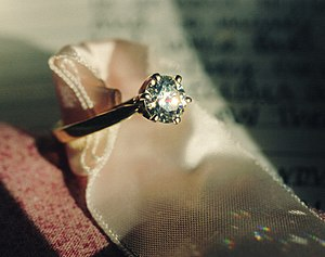 carats (0 mg) round diamond engagement ring.