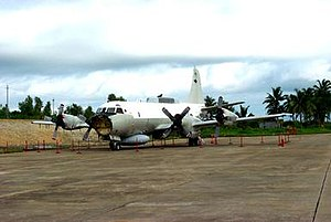 The US Navy EP-3 that landed on Hainan Island ...