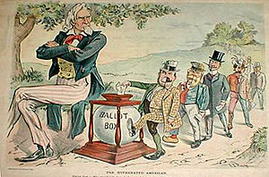 Cartoon from Puck, August 9, 1899. Uncle Sam s...