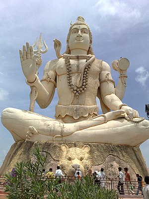 Statue of Lord Shiva at Nageshwar